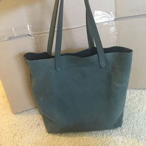 Madewell leather blue tote